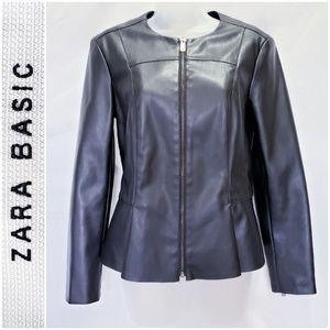 #582 EUC! ZARA BASIC faux leather jacket *medium